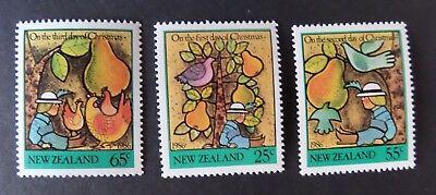 New Zealand 1986 Christmas Twelve Days Sg1404/6 Mnh Um Unmounted Mint Hoher Standard In QualitäT Und Hygiene Neuseeland Briefmarken