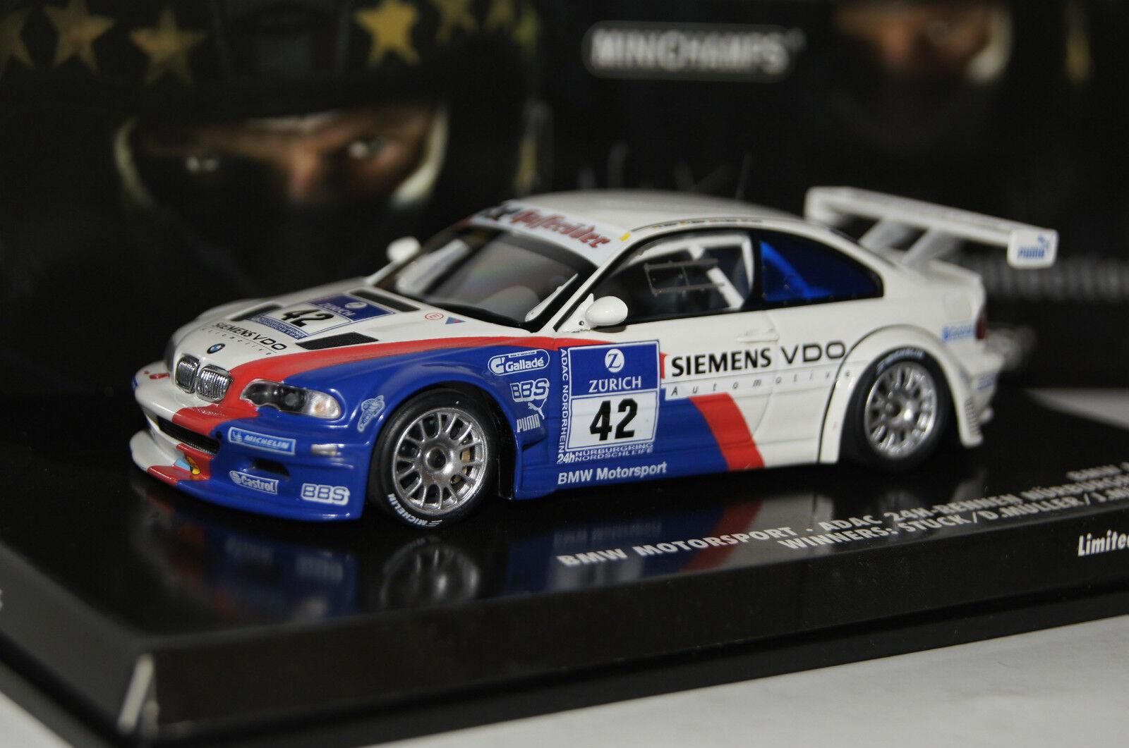 Bmw m3 GTR nurburgring 2004 teatro-Edition 1 43 Minichamps nuevo & OVP 444042342