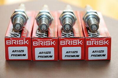 ►4X BRISK AR10ZS Zündkerze MV AGUSTA F4 BRUTALE 910 989=IU27D,U27ESR-NZU,IUH27