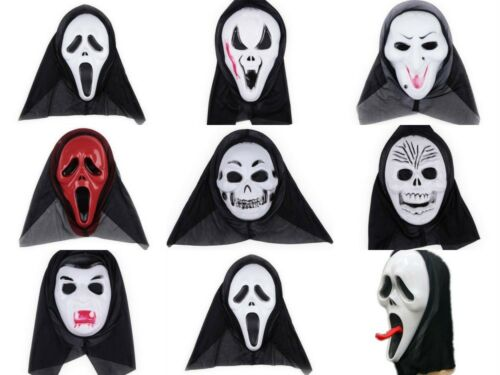 Halloween Party Cosplay Skull Ghost Scary Cowl Hat Scream Costume Mask Face Hood