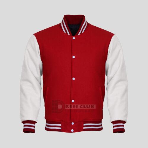 Original American Varsity Letterman College Baseball Bomber Men/'s Wool Jackets