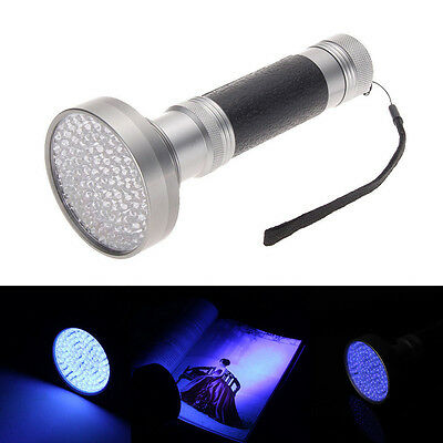 New 100 LED UV Blacklight Flashlight Super Bright Scorpion Money Detection Light