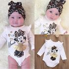 Minnie Mouse Newborn Infant Baby Boy Girls Bodysuit Romper Outfit Onesie Clothes