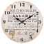 Kitchen-Rules-Wall-Clock-Vintage-Cream-Novelty-Quote-Large-Shabby-Chic-34-cm-Big