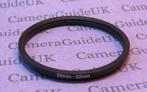 62mm a 55 mm stepping maschio-femmina Step Down Filtro Anello Adattatore 62mm-55mm UK