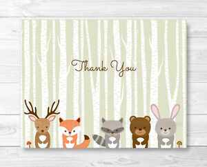 photo about Animal Cards Printable named Facts around Woodland Pets Thank Yourself Card Printable