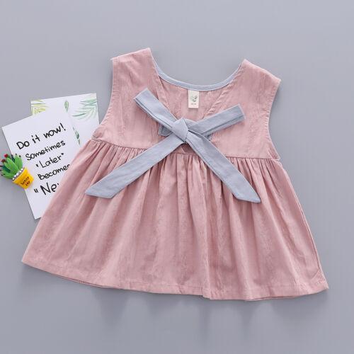 Toddler Kids Baby Girls Sleeveless Bowknot Princess Party Tutu Dresses Sundress