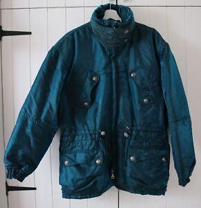 Ellesse-Vintage-Oversized-Blue-Green-2-Tone-Retro-Padded-Ski-Coat-UK-16-US-12