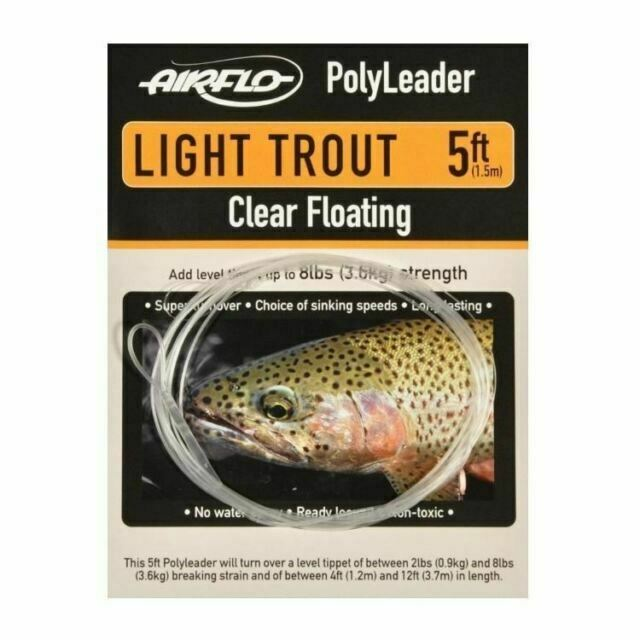 Sinking Intermediate Floating Airflo Poly Leader Sets 7 Lines //Fly Fishing