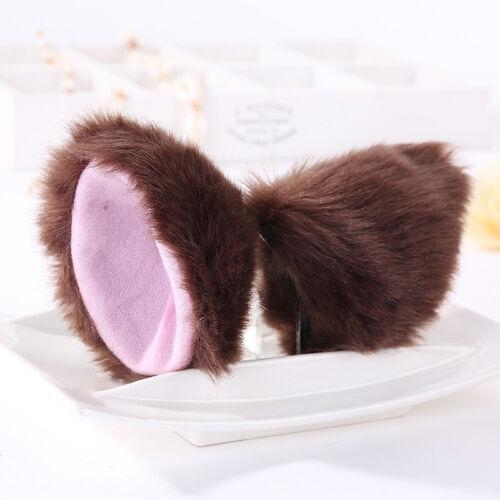 Cat Fox Long Plush Fluffy Ear Warm Halloween Cosplay Hair Clip Hairband Fashion
