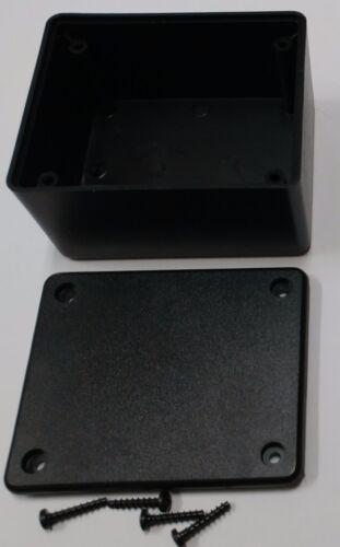 2 pcs USA black Plastic Electronic Project Box Enclosure case 3 x 2.5 x 1.6 in