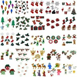 Dress-It-Up-Buttons-Embellishments-Christmas-Xmas-Holly-Snowmen-Festive-Craft
