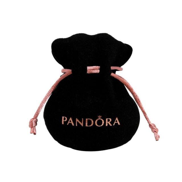 133db5299f16 NEW PANDORA Black Velvet felt jewellery Pouch Charms Bracelets earrings  gift bag