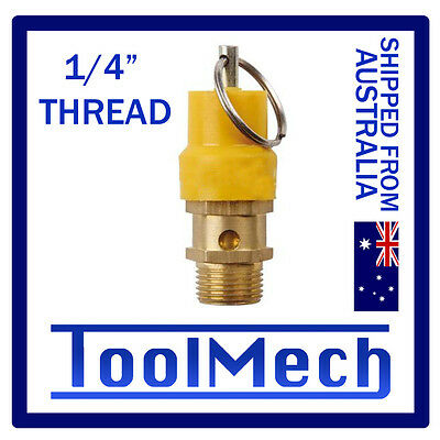 """1/4"""" Compressor Pressure Relief Valve Safety Release Air Fitting Pneumatic"""