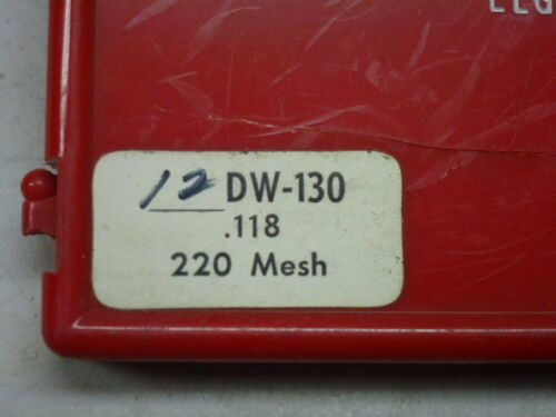 """.118/"""" 220 MESH DW-130 Precision Diamond CYLINDRICAL GRINDING POINT BURR NOS"""