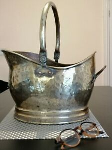 Large-Vintage-Brass-coal-bucket
