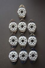 LOCTAL CHASSIS SOCKETS B8G / B8B VALVES / TUBES 10 PIECES
