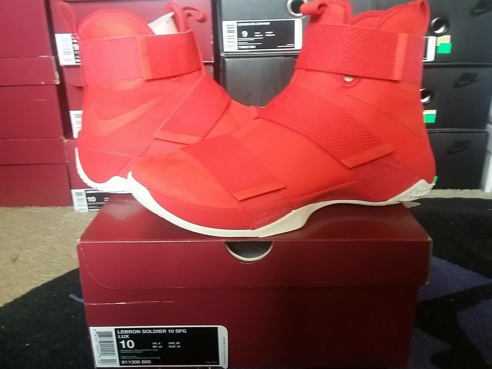 Nike Air Zoom Soldier X 10 LeBron James SFG Lux University Red OSU xi 911306 600