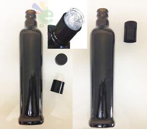 Bottiglia papua per olio con tappo antirabboccobottiglie da  500 ml 24pezzi