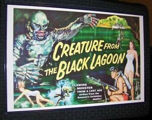 The Creature from the Black Lagoon Multicolor 11X17 Universal Movie Poster