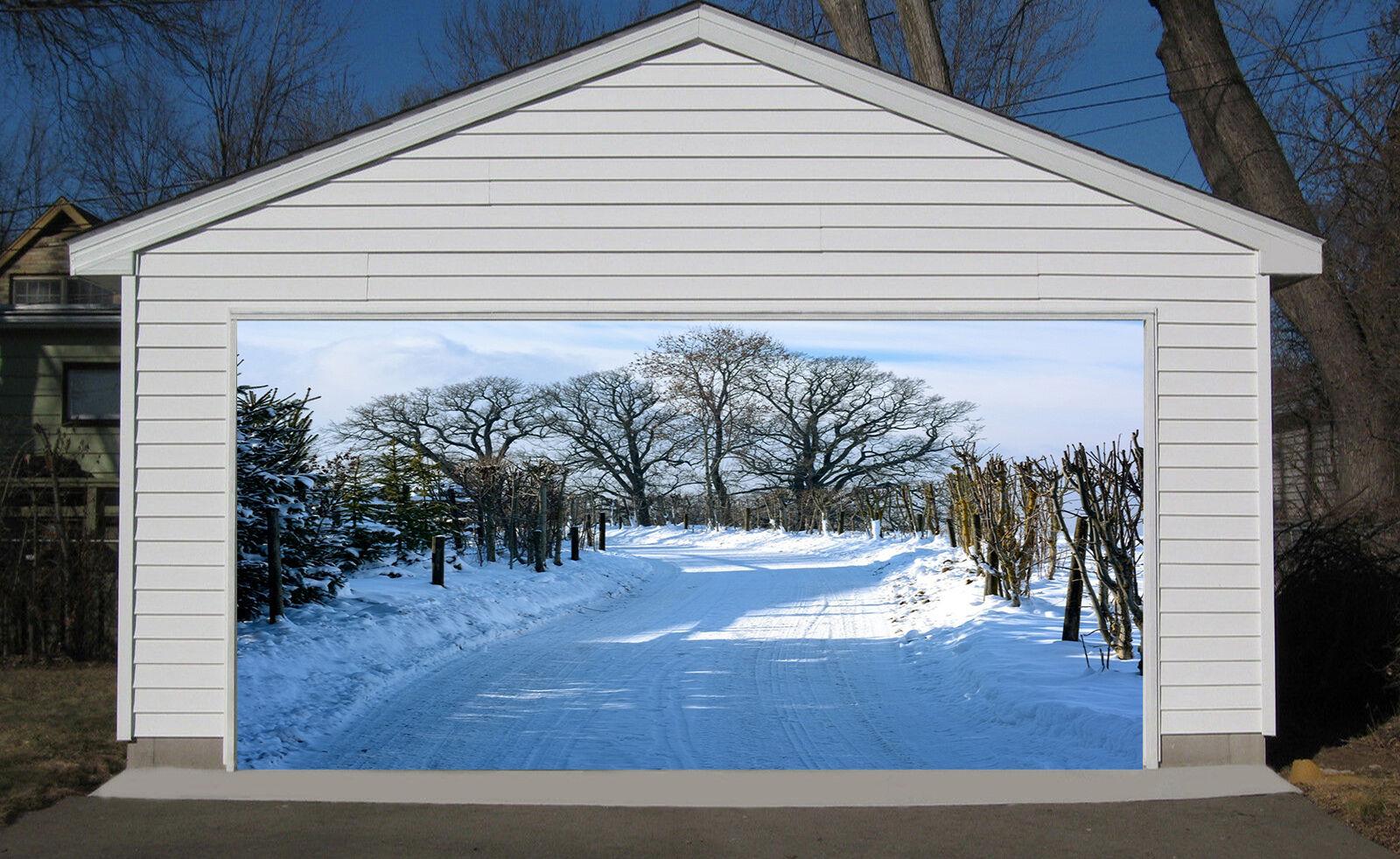 3D Snow Road 057 Garage Door Murals Wall Print Decal Wall Deco AJ WALLPAPER IE