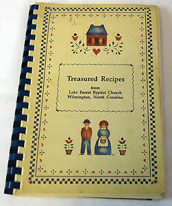 1992 Lake Forest Baptist Church, Wilmington NC TREASURED RECIPES cookbook