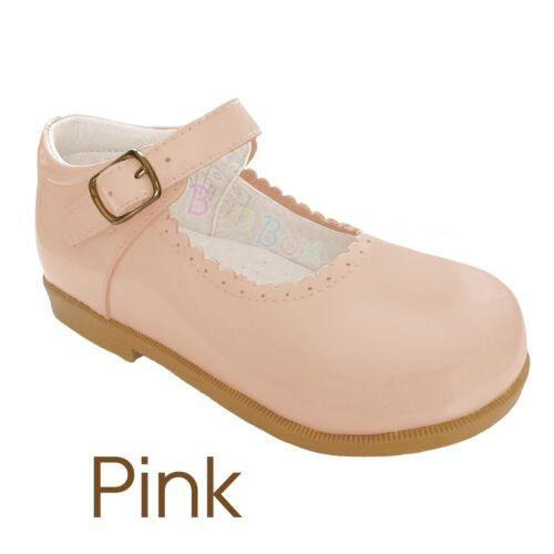 -8 EU18 EU25 Baby Girls /& Girls Patent Leather Mary Jane Strap Flat Shoes UK 2
