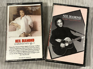 Neil-Diamond-12-Greatest-Hits-Volume-II-amp-The-Best-Years-Of-Our-Lives-Cassettes