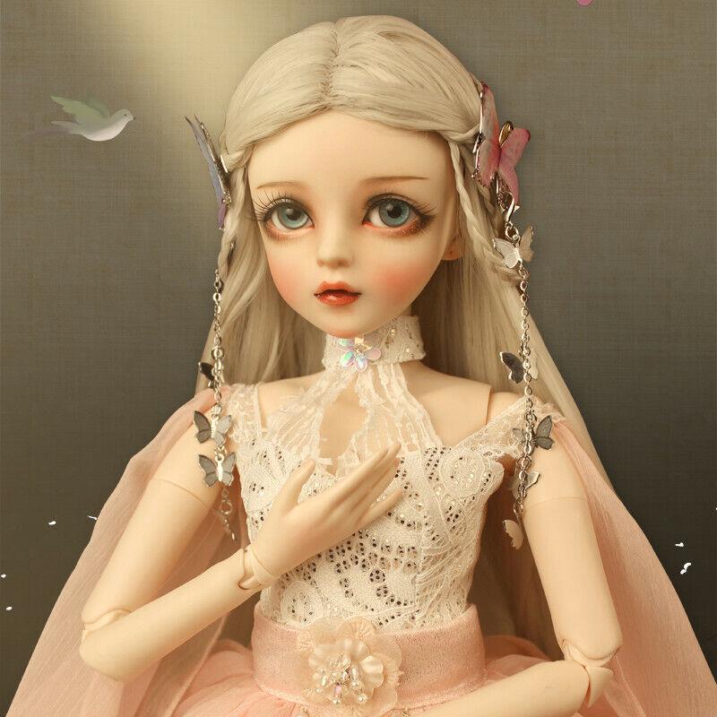 BJD 1 3 Doll 24  Ball Jointed Doll Geschenk für Mädchen Augen Kleider Schuhe