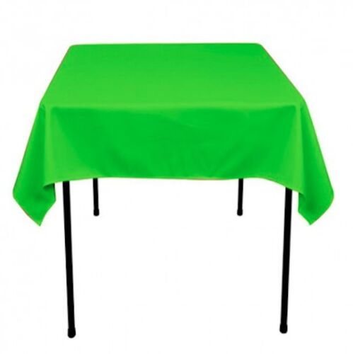 """50 pack 54/"""" x 54/"""" Square Overlay Tablecloth 100/% polyester Wholesale Wedding"""