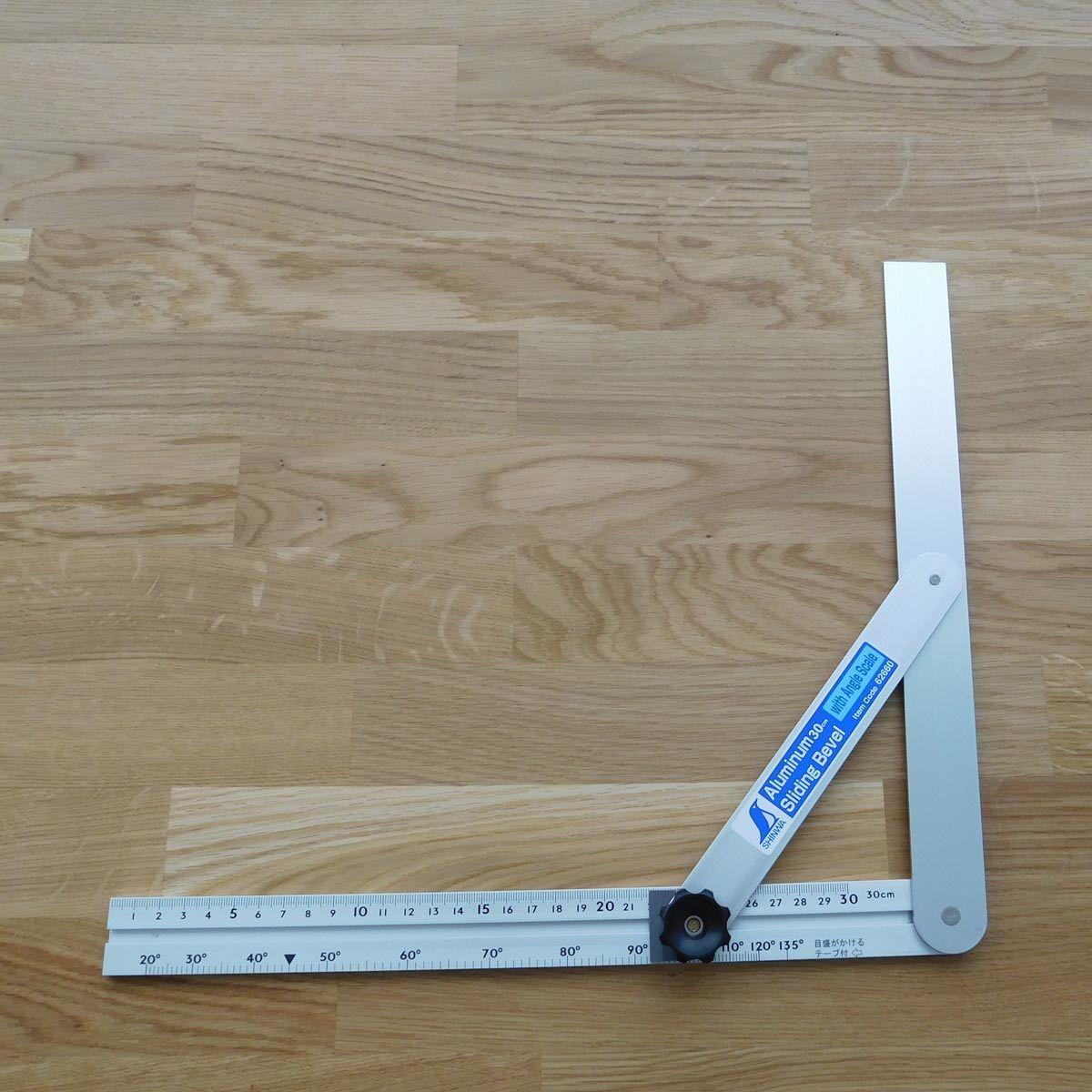 Shinwa Schmiege 30 cm mit Feststellrad, Grad und Millimeterskala, umschwenkbar