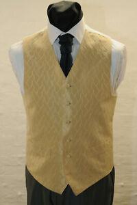 W-1140-MENS-GOLD-WAISTCOAT-FORMAL-DRESS-WEDDING-SUIT