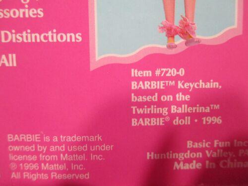 """INC COLLECTIBLES KEEPSAKE GIFTS #2 4/"""" BARBIE KEYCHAIN OCEAN FRIEND 1996 MATTEL"""