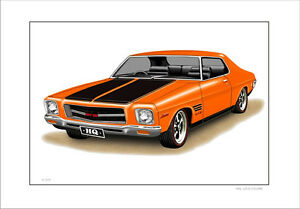 HOLDEN-HQ-GTS-MONARO-COUPE-LIMITED-EDITION-CAR-DRAWING-PRINT-10-CAR-COLOURS