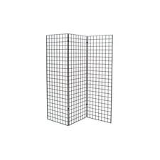 Grid Wall Z Unit 3 Panels Black 72x24in Durable Rust Resistant Storage Display