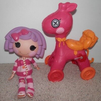 LALALOOPSY 2 DOLL PILLOW FEATHERBED FULL SIZE Sew limited Edition W// Mini No Box