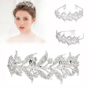 Leaf-Crystal-Wedding-Tiara-Bridal-Crown-Jewelry-Prom-Princess-Queen-Diadem