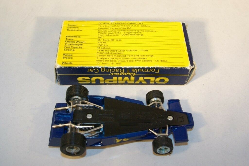 DINKY TOYS 222 HESKETH OLYMPUS FORMULA FORMULA FORMULA 1 RACING CAR MINT BOXED PROMOTIONAL RARE  a27201