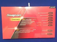 Snap On 10pc Soft Grip Instinct Combination Screwdriver Set BRIGHT RED NEW