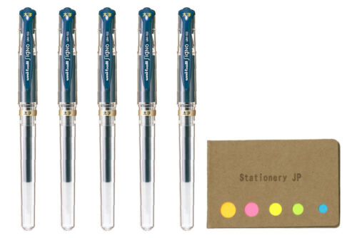 Uni-ball Signo Capped Gel Ink Pen UM-153 1.0mm Blue Black Ink 5-Pack