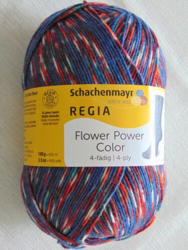 100Gr.//5,99€ FLOWER POWER Schachenmayr-100g-Garn-Sockenwolle Regia