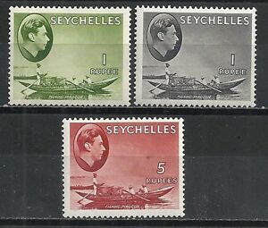 Seychelles stamps 1938 SG 146+146a+149 MLH F/VF
