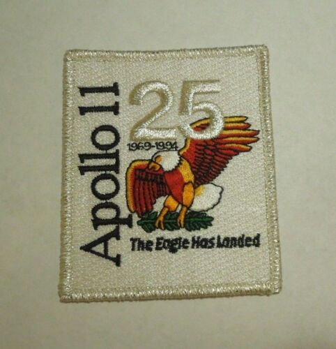 25th Anniversary NASA Space Apollo 11 Lunar Landing Small Iron On Patch