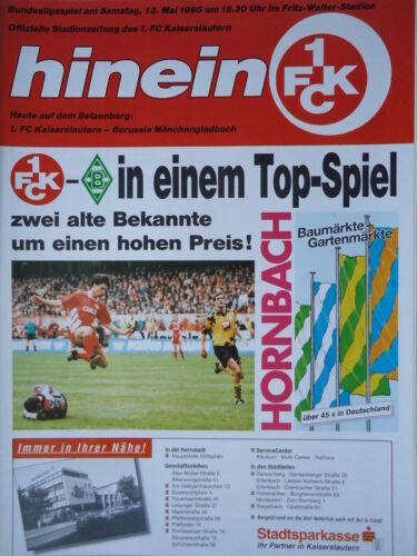Programm 1994//95 1 FC Kaiserslautern Mönchengladbach
