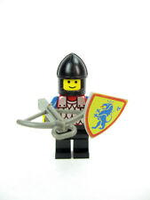 Vintage LEGO Castle Archer Guard Minifig 6081 w/Blue Lion Shield Crossbow