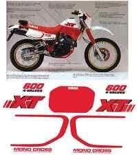 Adesivi Decal Stickers Yamaha XT 600 1987 - 1990 Typ 2KF Mod Bianca Rossa