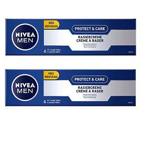 23-95-L-2x-100ml-NIVEA-protection-amp-Soin-creme-a-raser-normal-peau-seche