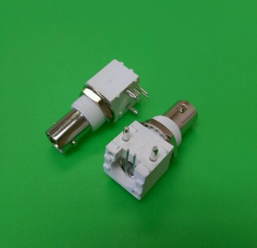 1 PC USA Seller Right Angle BNC Female Bulkhead PCB Mount Connector