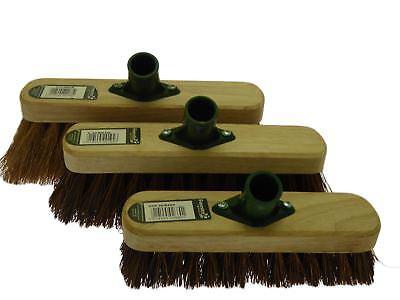 """9/"""" Deck Scrub Heavy Duty Rigida Pavimento Spazzola per pulire spazzare scopa"""