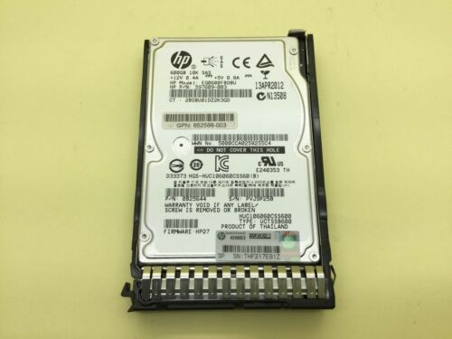 HP 652583-B21 600GB 6G SAS 10K rpm SFF SC Enterprise HDD 653957-001 2.5-inch